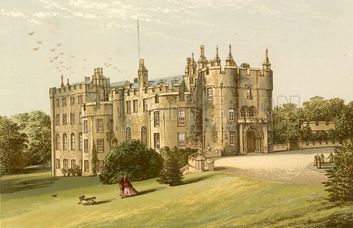 Picton Castle. Illustration for Pictureque Views of Seats by FO Morris (William Mackenzie, c 1880).