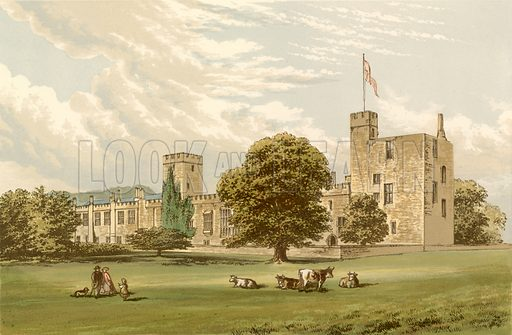 Sudeley Castle. Illustration for Pictureque Views of Seats by F O Morris (William Mackenzie, c 1880).