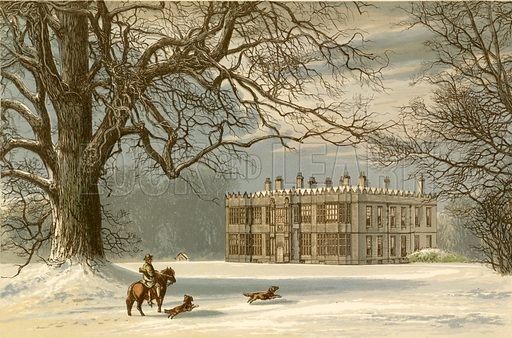 Howsham Hall. Illustration for Pictureque Views of Seats by F O Morris (William Mackenzie, c 1880).