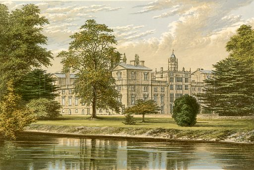 Wilton House. Illustration for Pictureque Views of Seats by FO Morris (William Mackenzie, c 1880).