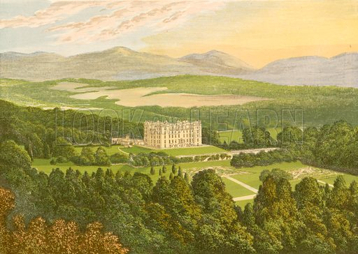 Drumlanrig Castle. Illustration for Pictureque Views of Seats by FO Morris (William Mackenzie, c 1880).