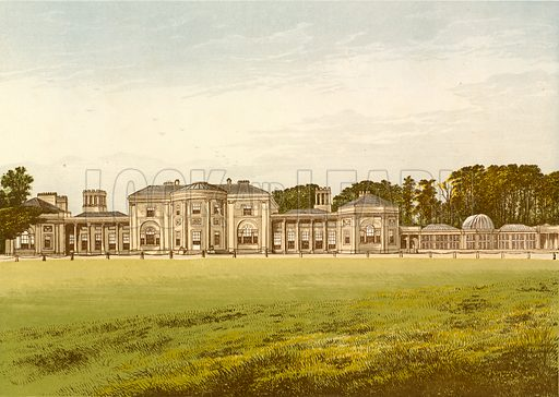 Heaton Park. Illustration for Pictureque Views of Seats by FO Morris (William Mackenzie, c 1880).