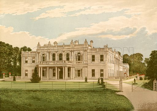 Rollestone Hall. Illustration for Pictureque Views of Seats by F O Morris (William Mackenzie, c 1880).