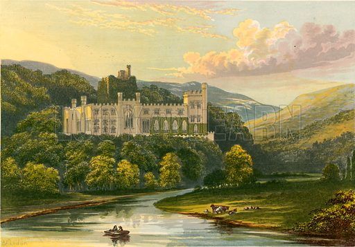 Arundel Castle. Illustration for Pictureque Views of Seats by FO Morris (William Mackenzie, c 1880).
