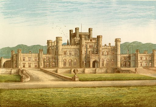 Lowther Castle. Illustration for Pictureque Views of Seats by FO Morris (William Mackenzie, c 1880).
