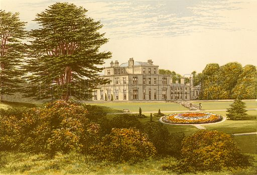 Eden Hall. Illustration for Pictureque Views of Seats by FO Morris (William Mackenzie, c 1880).
