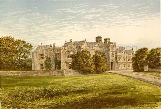 Wytham Abbey. Illustration for Pictureque Views of Seats by FO Morris (William Mackenzie, c 1880).