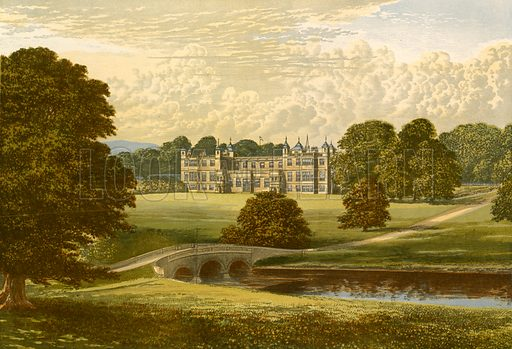 Audley End. Illustration for Pictureque Views of Seats by F O Morris (William Mackenzie, c 1880).