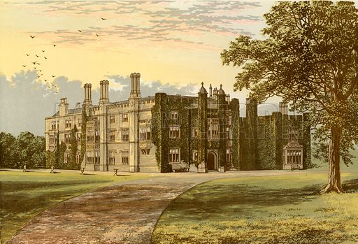 Drakelowe Hall. Illustration for Pictureque Views of Seats by FO Morris (William Mackenzie, c 1880).