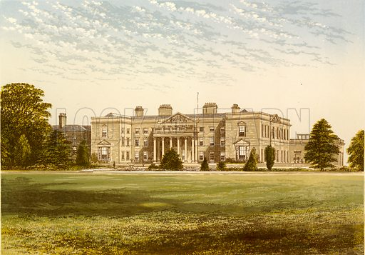 Gopsal Hall. Illustration for Pictureque Views of Seats by FO Morris (William Mackenzie, c 1880).