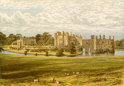 Leeds Castle. Illustration for Pictureque Views of Seats by F O Morris (William Mackenzie, c 1880).