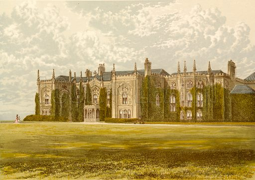 Combermere Abbey. Illustration for Pictureque Views of Seats by F O Morris (William Mackenzie, c 1880).