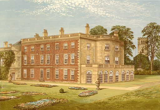 Clifton Hall. Illustration for Pictureque Views of Seats by F O Morris (William Mackenzie, c 1880).