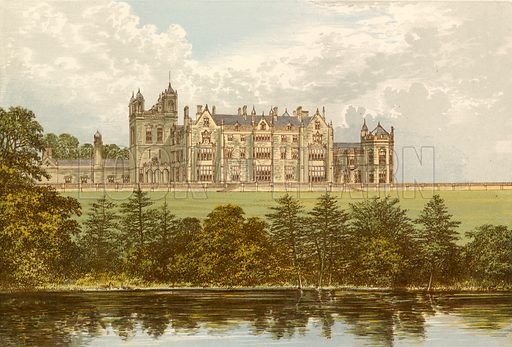 Worsley Hall. Illustration for Pictureque Views of Seats by F O Morris (William Mackenzie, c 1880).