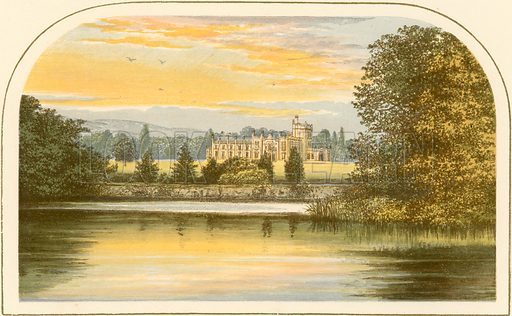 Abercairny. Illustration for Pictureque Views of Seats by FO Morris (William Mackenzie, c 1880).
