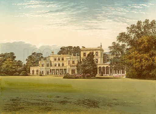 Danesfield House. Illustration for Pictureque Views of Seats by F O Morris (William Mackenzie, c 1880).