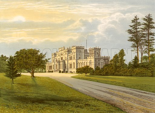 Rossie Castle. Illustration for Pictureque Views of Seats by F O Morris (William Mackenzie, c 1880).