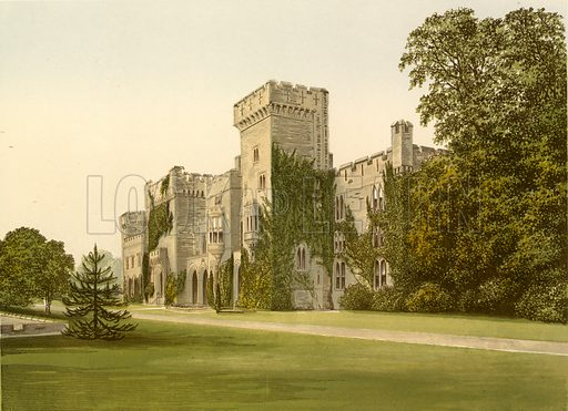 Downton Castle. Illustration for Pictureque Views of Seats by FO Morris (William Mackenzie, c 1880).