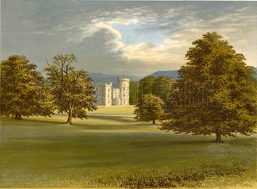 Castle Forbes. Illustration for Pictureque Views of Seats by FO Morris (William Mackenzie, c 1880).