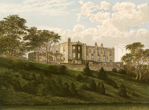 Workington Hall. Illustration for Pictureque Views of Seats by F O Morris (William Mackenzie, c 1880).
