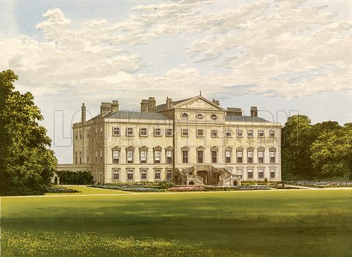 Lathom House. Illustration for Pictureque Views of Seats by FO Morris (William Mackenzie, c 1880).