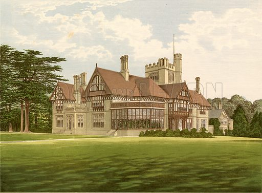 Cowdray Park. Illustration for Pictureque Views of Seats by F O Morris (William Mackenzie, c 1880).