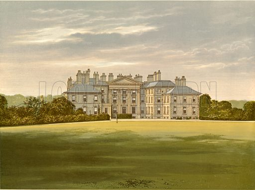 Dalkeith Palace. Illustration for Pictureque Views of Seats by F O Morris (William Mackenzie, c 1880).