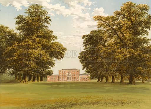 Aldby Park. Illustration for Pictureque Views of Seats by FO Morris (William Mackenzie, c 1880).