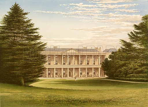West Wycombe House. Illustration for Pictureque Views of Seats by FO Morris (William Mackenzie, c 1880).