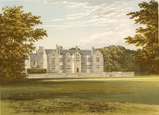 Glynde Place. Illustration for Pictureque Views of Seats by FO Morris (William Mackenzie, c 1880).