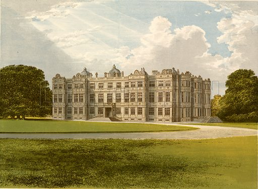 Longleat. Illustration for Pictureque Views of Seats by FO Morris (William Mackenzie, c 1880).