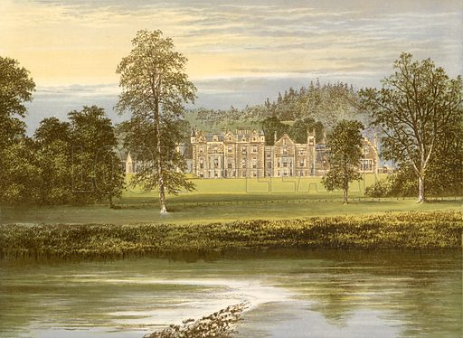 Abbotsford. Illustration for Pictureque Views of Seats by FO Morris (William Mackenzie, c 1880).