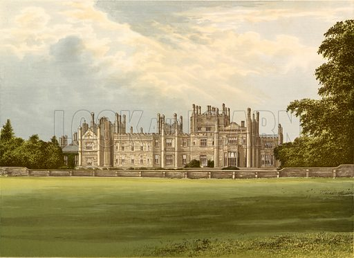 Tregothnan. Illustration for Pictureque Views of Seats by FO Morris (William Mackenzie, c 1880).