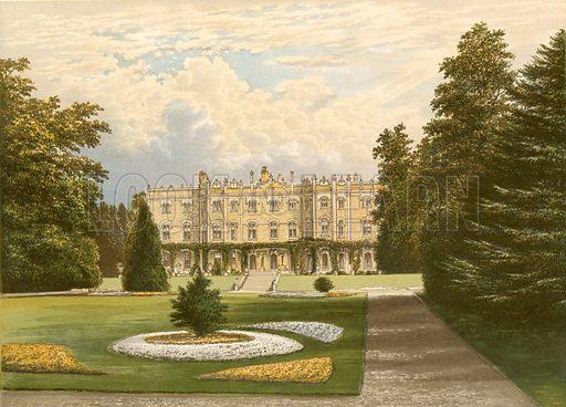 Hughenden Manor. Illustration for Pictureque Views of Seats by FO Morris (William Mackenzie, c 1880).