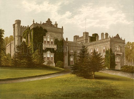 Aske Hall. Illustration for Pictureque Views of Seats by FO Morris (William Mackenzie, c 1880).