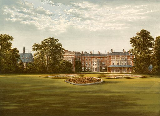 Rhydd Court. Illustration for Pictureque Views of Seats by FO Morris (William Mackenzie, c 1880).