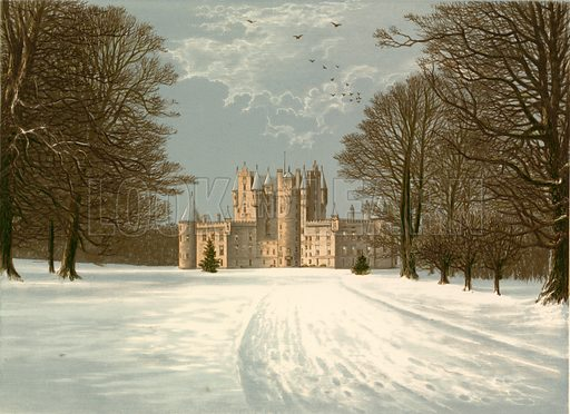 Glamis Castle. Illustration for Pictureque Views of Seats by F O Morris (William Mackenzie, c 1880).