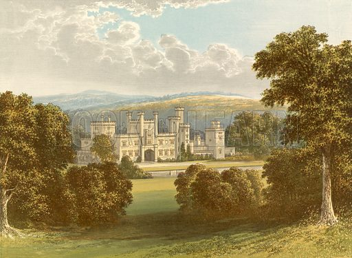 Ravensworth Castle. Illustration for Pictureque Views of Seats by F O Morris (William Mackenzie, c 1880).