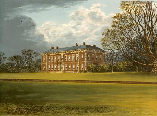 Beningbrough Hall. Illustration for Pictureque Views of Seats by FO Morris (William Mackenzie, c 1880).