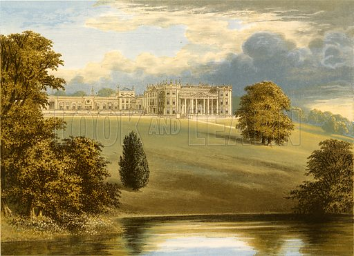 Bowood Park. Illustration for Pictureque Views of Seats by FO Morris (William Mackenzie, c 1880).