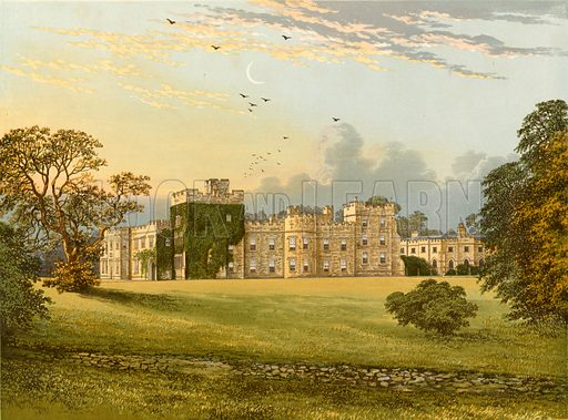 Hornby Castle. Illustration for Pictureque Views of Seats by F O Morris (William Mackenzie, c 1880).