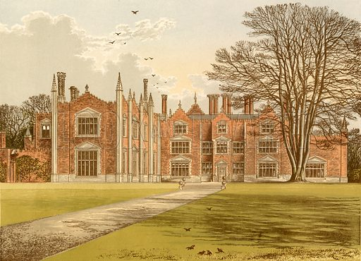 Witchingham Hall. Illustration for Pictureque Views of Seats by F O Morris (William Mackenzie, c 1880).