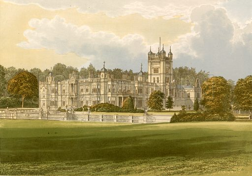 Underley Hall. Illustration for Pictureque Views of Seats by F O Morris (William Mackenzie, c 1880).