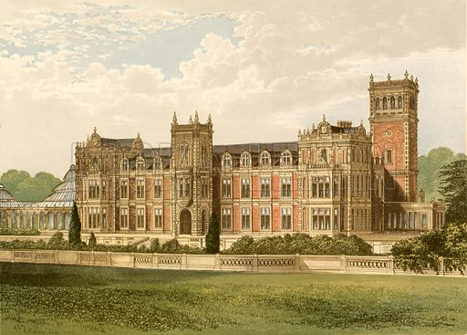 Somerleyton. Illustration for Pictureque Views of Seats by F O Morris (William Mackenzie, c 1880).
