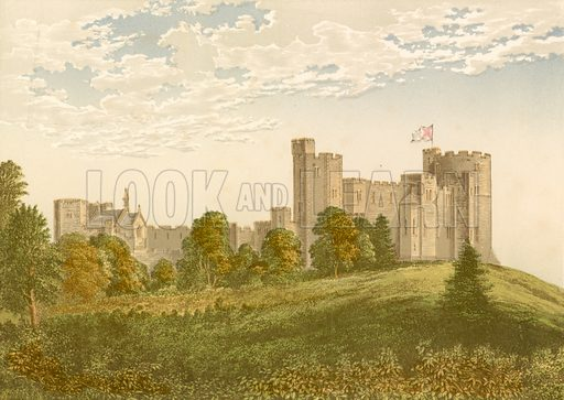 Peckforton Castle. Illustration for Pictureque Views of Seats by F O Morris (William Mackenzie, c 1880).