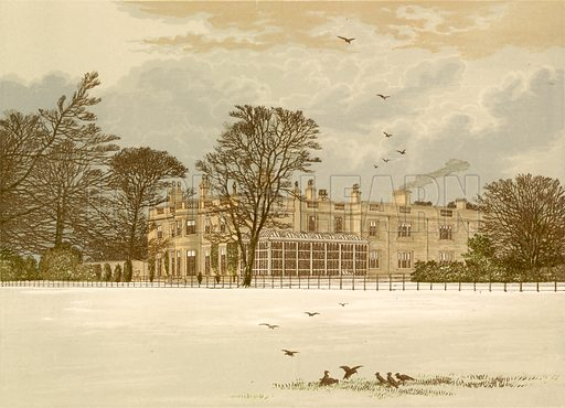 Ednaston Lodge. Illustration for Pictureque Views of Seats by F O Morris (William Mackenzie, c 1880).