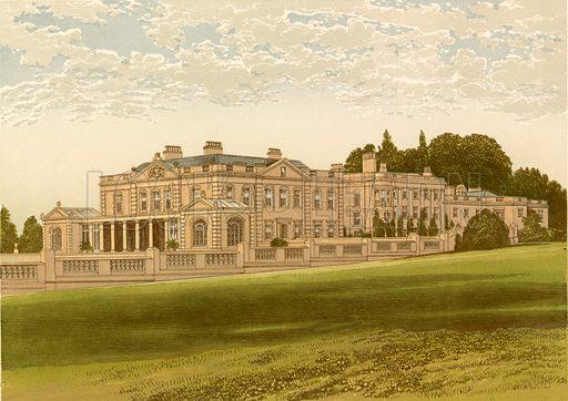 Gunton Park. Illustration for Pictureque Views of Seats by FO Morris (William Mackenzie, c 1880).