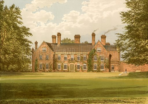 Nether Hall. Illustration for Pictureque Views of Seats by F O Morris (William Mackenzie, c 1880).