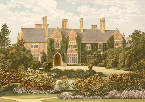 Oxley Manor. Illustration for Pictureque Views of Seats by F O Morris (William Mackenzie, c 1880).