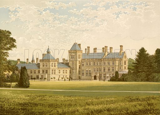 Walton Hall. Illustration for Pictureque Views of Seats by F O Morris (William Mackenzie, c 1880).